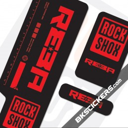 Rockshox Reba 2009 Black Fork Decals kit - Bkstcikers.com