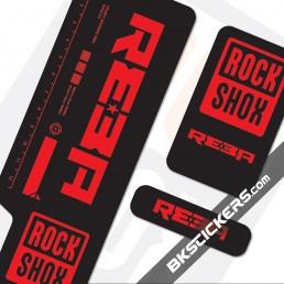 Rockshox Reba 2009 Black Fork Decals kit - Bkstickers.com