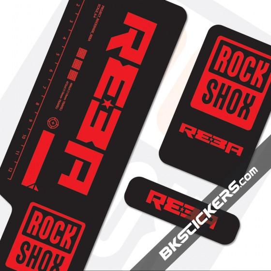 Rockshox Reba 2009 Black Fork Decals kit - Bkstcikers.com