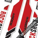 Rockshox Boxxer dark red