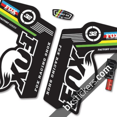 Fox 32 World Cup Stickers kit Black Forks - bkstickers.com