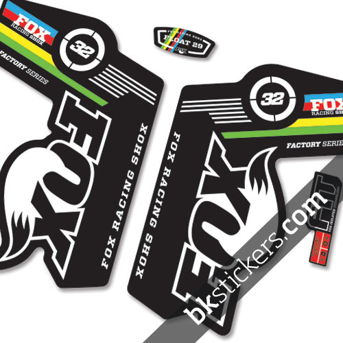 Fox 32 World Cup Stickers Kit Black Forks Bkstickers Com