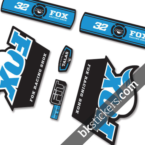 Fox 32 Talas Decals Kit Black Forks - bkstickers.com