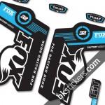 Fox 32 Decals Kit Black Forks - bkstickers.com