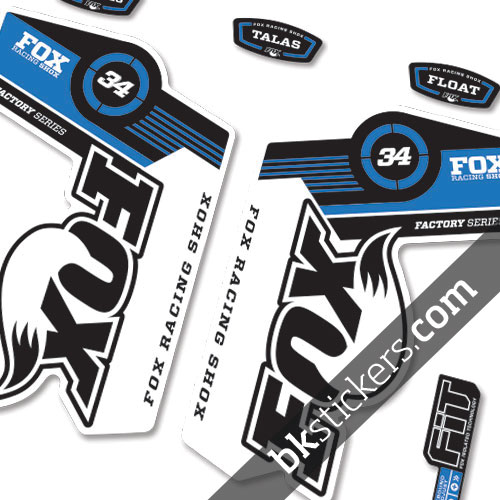 Fox 34 Decals Kit White Forks - bkstickers.com