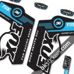 Fox 36 Decals Kit Black Forks - bkstickers.com