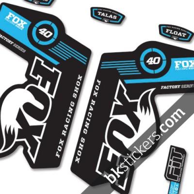 Fox 40 Decals Kit Black Forks - bkstickers.com