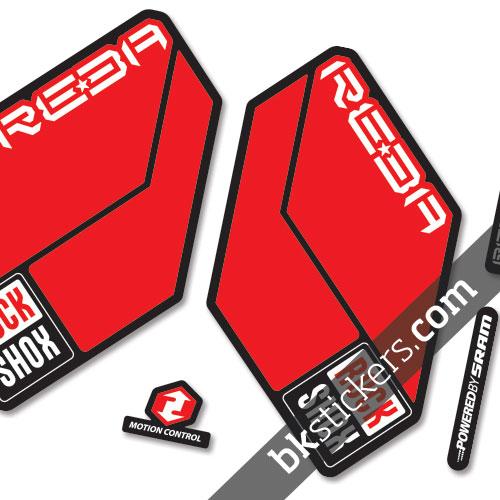 Rockshox Reba 2011 B light-red