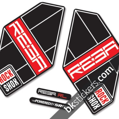 Rockshox Reba 2011 B light red