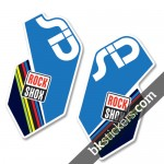 Rockshox SID 2012 White Fork Decals kit - Bkstickers.com