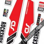 Rockshox Sid 2014 Stickers kit White Forks
