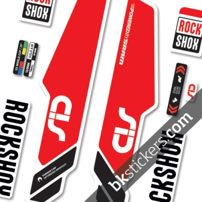 RockShox Sid 2014 Standard stickers kit red