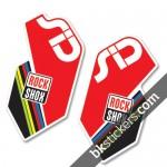 Rockshox SID 2012 White Fork Decals kit - Bkstickers.com