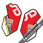 Rockshox SID 2012 Black Fork Decals kit - Bkstickers.com