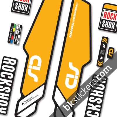 Rockshox Sid 2014 Stickers kit Black Forks