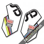 Rockshox SID 2012 Black Fork Decals kit - Bkstickers.com