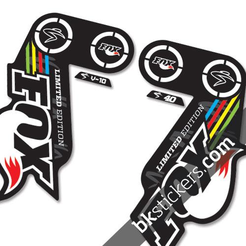 Fox 40 sc v10 b edition bkstickers custom fork stickers