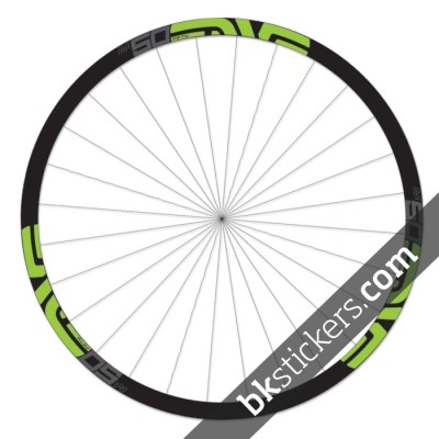 Enve M50 Fifty 29 custom wheels stickers bkstickers green