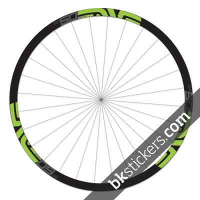 Enve M50 Fifty 29 custom wheels stickers bkstickers green