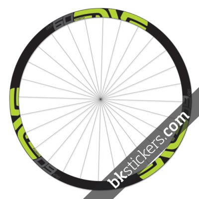 Enve M60 Forty 27,5 custom wheels stickers green