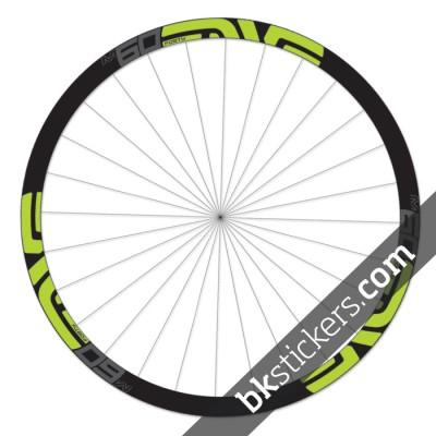 Enve M60 Forty 27,5 custom wheels stickers green