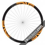 Enve M70 Thirty 27,5 custom wheels stickers orange