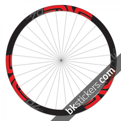Enve M70 Thirty 27,5 custom wheels stickers red