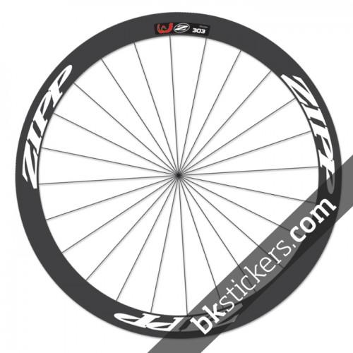 zipp 303 custom wheels stickers white