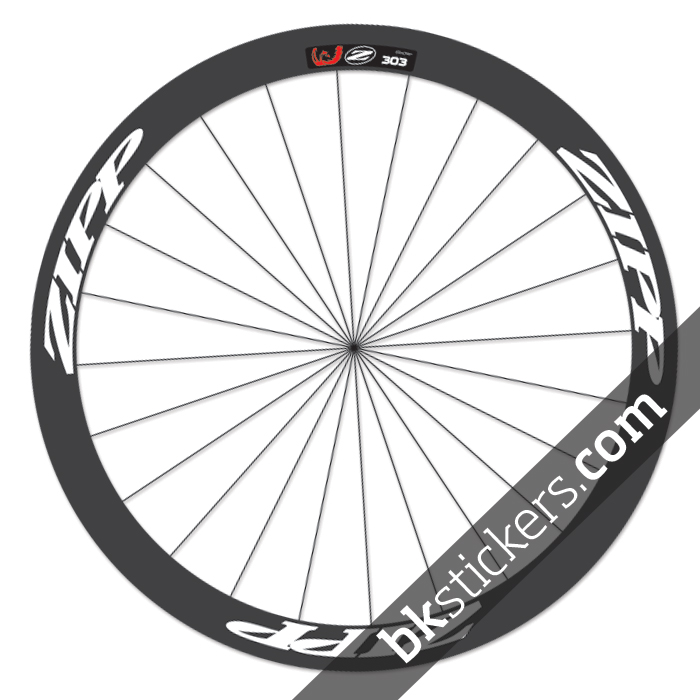 Zipp 303 custom wheels stickers white