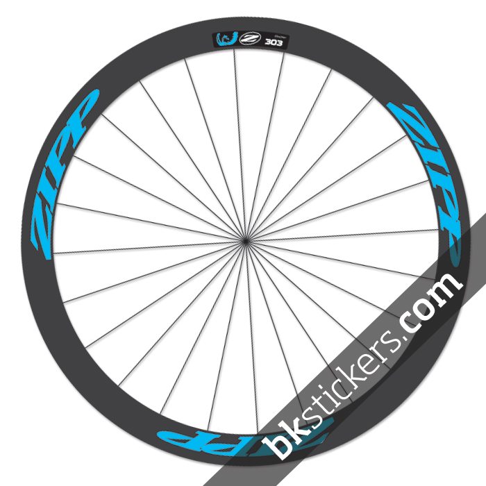 Zipp 303 custom wheels stickers blue