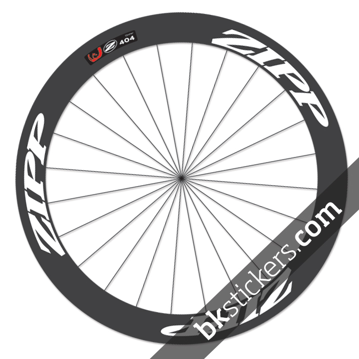 Zipp 404 custom wheels stickers white