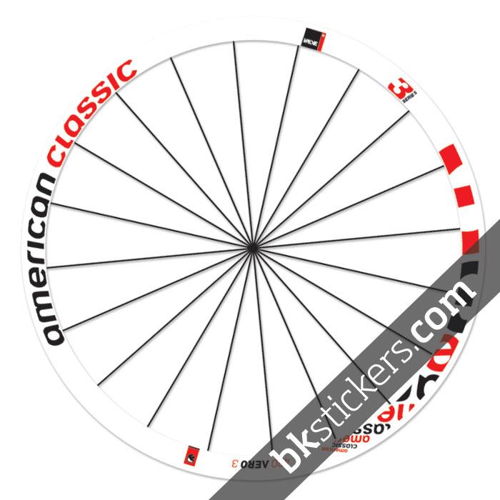 American classic 420 aero 3 bksticker rims stickers for American classic 3