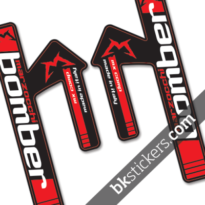 Marzocchi MX Comp Red Decals Black Forks Kit - bkstickers