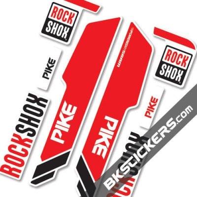 Rockshox Pike 2014 stickers kit White Forks