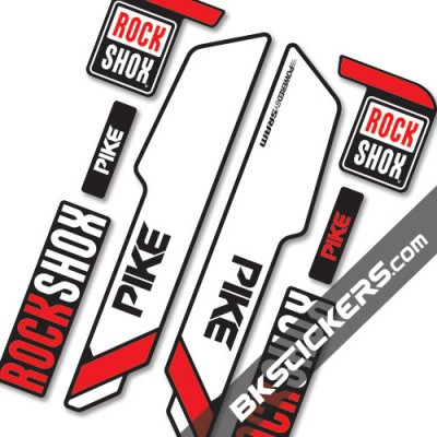 Rockshox Pike 2014 stickers kit Black Forks