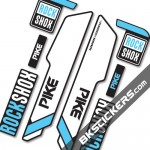 Rockshok Pike 2015 B - Bksticker fork stickers