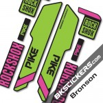 Rockshok Pike Santa Cruz - Bksticker fork stickers