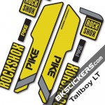 Rockshok Pike Santa Cruz - Bksticker fork stickers