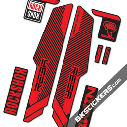 Rockshox RS Reba Brain - Bkstickers fork stickers