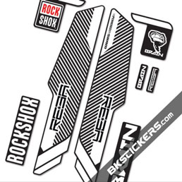 Rockshox Reba Brain 2014 Stickers kit Black Forks - bkstickers.com