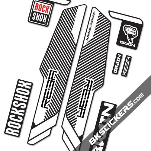 Rockshox Reba Brain 2014 Stickers kit Black Forks - bkstickers.com