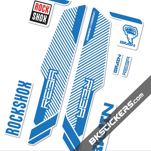 Rockshox Reba Brain 2014 Stickers kit White Forks - bkstickers.com