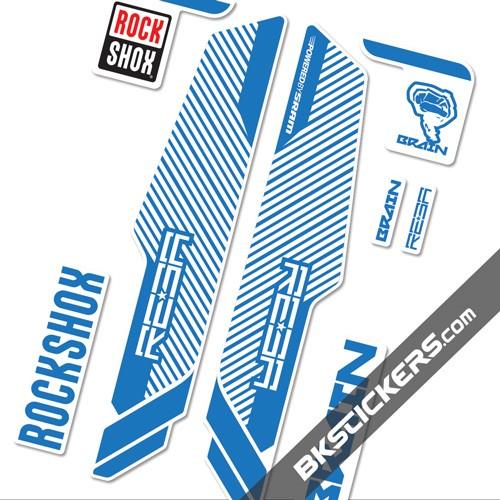 Rockshox Reba Brain 2014 Stickers kit White Forks - bkstcikers.com