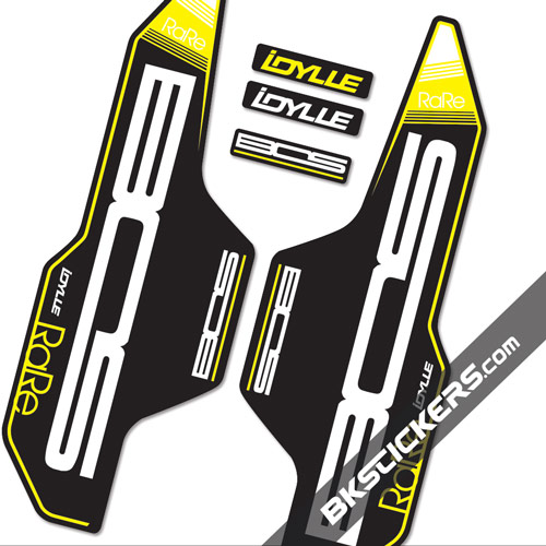BOS Idylle Rare Stickers kit Black Forks - bkstickers.com