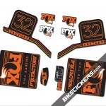 Fox Factory 32 2016 stickers kit Black Forks - orange - Bkstickers.com