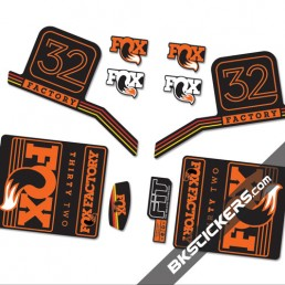 Fox Factory 32 2016 stickers kit Black Forks - orange - Bkstickers.com