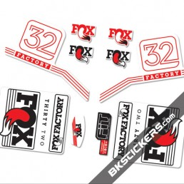Fox Factory 32 2016 stickers kit White Forks-red