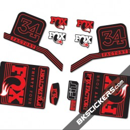 Fox Factory 34 2016 stickers kit Black Forks - red - Bkstickers.com