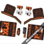 Fox Factory 36 2016 stickers kit Black Forks - Bkstickers.com