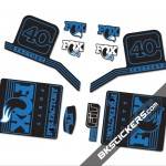 Fox Factory 40 2016 stickers kit Black Forks - Blue - Bkstickers.com